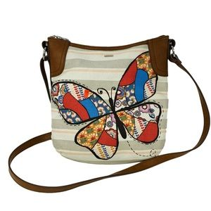 New Relic Relic Butterfly Faux Patchwork Purse Sho